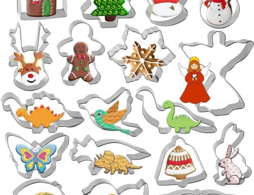Christmas Cookie Cutter Set – Gyvazla 18 Piece Stainless Steel Snowflake, Christmas Tree, Gingerbread Boy, for Christmas Holiday